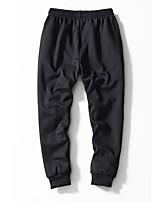 cheap -Men's Hiking Pants Solid Color Winter Outdoor Standard Fit Fleece Lining Warm Soft Anti-tear Pants / Trousers Cargo Pants Bottoms Black Hunting Fishing Climbing M L XL XXL XXXL
