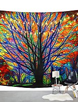 cheap -colorful tree tapestry wall hanging psychedelic forest with birds wall tapestry bohemian mandala hippie tapestry for bedroom living room dorm