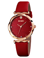 cheap -SKMEI Women's Quartz Watches Quartz Formal Style Modern Style Elegant Water Resistant / Waterproof Analog Blue Red / One Year / Genuine Leather / Shock Resistant / Genuine Leather / Imitation Diamond