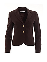 cheap -women's solid two button career blazer 8 petite otter