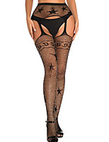 cheap -Women's Thin Stockings - Sexy Lady / Sequin / Lace 10D Black One-Size