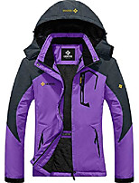 cheap -women's mountain waterproof ski snow jacket winter windproof rain jacket (purple, medium)