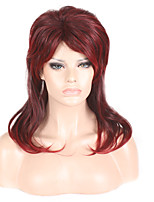 cheap -Synthetic Wig kinky Straight Asymmetrical Wig Short Wine Red Synthetic Hair 22 inch Women's Fashionable Design Classic Easy to Carry Burgundy