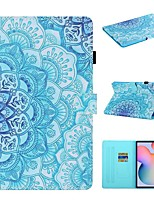 cheap -Case For Samsung Galaxy Tab A2 10.5 T590 Tab A 10.1 T510 Tab A 8.0 T290 295  S6 lite P610 P615 Tab S5e T720 T725 Wallet Card Holder with Stand Full Body Cases Flower PU Leather