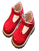cheap -toddlers little girls retro t-strap princess oxfords mary janes flats school dress shoes red size 7.5 m