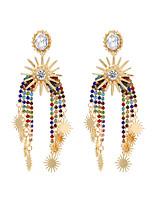 cheap -Women's Drop Earrings Earrings Dangle Earrings Fancy Precious Bohemian Trendy Fashion Colorful Boho Imitation Diamond Earrings Jewelry White / Blue / Coffee For Wedding Gift Prom Promise Festival