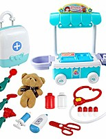 cheap -medical kit for kids, doctor pretend play equipment, surgical car with music children, doctor play set,school classroom and doctor roleplay costume dress-up (blue)