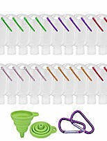 cheap -20 pack travel plastic clear keychain bottles leakproof empty squeeze containers flip cap tsa approved buckle-random colors(60ml/2oz)