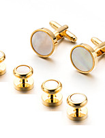 cheap -Cufflinks Simple Basic Brooch Jewelry Golden For Daily Festival