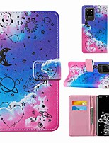 cheap -Case For Samsung Galaxy Note 20 Galaxy Note 20 Ultra Galaxy A21s Wallet Card Holder with Stand Full Body Cases Love Universe PU Leather TPU for Galaxy A51 5G Galaxy A71 5G Galaxy S20 Ultra