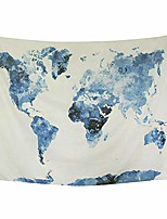 cheap -blue watercolor world map tapestry abstract splatter painting tapestry wall hanging art for living room bedroom dorm home decor (59x59 inches, blue)