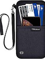 cheap -travel wallet,rfid blocking waterproof document organizer bag with neck strap,black passport holder