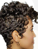 cheap -Synthetic Wig Afro Curly Bouncy Curl Pixie Cut Wig Short Black Synthetic Hair 12 inch Women's Fashionable Design Classic Cool Black