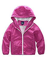 cheap -girls summer lightweight hooded water resistant jacket rosy 8/9