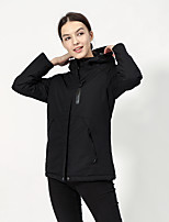 cheap -Women's Hiking Jacket Winter Outdoor Thermal Warm Waterproof Windproof Breathable Jacket Top Camping / Hiking Outdoor Black / Red / Pink / Khaki / Ultraviolet Resistant