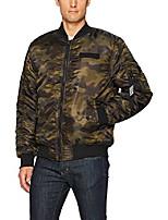 cheap -men's ma-1 flight bomber jacket, olive(fleece), small