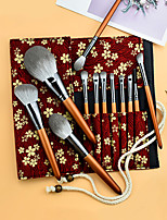 cheap -12PCS Makeup Brushes Set Super Soft Eyeshadow Brush Quick-drying Brush Loose Powder Brush Beauty Tool