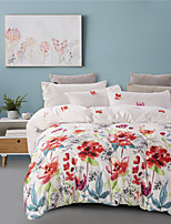 cheap -Botanical Floral Print 3-Piece Duvet Cover Set Hotel Bedding Sets Comforter Cover with Soft Lightweight Microfiber(Include 1 Duvet Cover and 1or 2 Pillowcases)