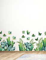 cheap -WallDecals Decor Vinyl DIY Green Cactus Wall Stickers Removable Waterproof Wallpaper Decals Art Easy Peel & Stick for Kids Room Living Room Bedroom