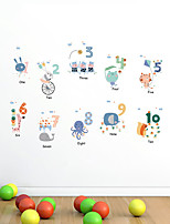 cheap -Numbers Print DIY Wall Stickers Decorative Wall Stickers, PVC Home Decoration Wall Decal Wall Decoration / Removable