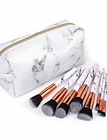 cheap -professional makeup brushes cosmetic bag set make up artist brushes multi functional cosmetic bag makeup handbag for travel & home gift & #40;marble makeup brushes, marble cosmetic bag&