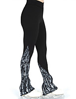 cheap -Figure Skating Pants Women's Girls' Ice Skating Pants / Trousers Bottoms Black Spandex High Elasticity Training Competition Skating Wear Warm Patchwork Ice Skating Winter Sports Figure Skating / Kids