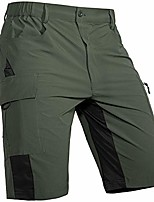 cheap --men's-outdoor-hiking-shorts-quick-dry-lightweight stretchy for cargo casual climbing camping army green