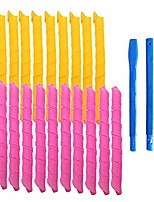 """cheap -20pcs magic hair curlers spiral curls styling kit for girl and women, no heat corkscrew curls styling and hooks for extra long hair up to 22""""(55 cm)"""