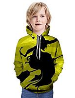 cheap -Kids Boys' Basic 3D Long Sleeve Hoodie & Sweatshirt Yellow