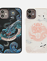 cheap -Case For Apple iPhone 11 Shockproof / Dustproof / Plating Back Cover Cartoon / Phrase TPU For Case iphone 11 Pro/11 Pro Max/7/8/7P/8P/SE 2020/X/Xs/Xs MAX/XR