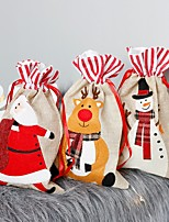cheap -1 Pc Santa Stocking Candy Bags Christmas Tree Ornamets Pendants Gift Bag For Children Fireplace Hanging Decor Party Supply