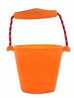 cheap -foldable pail bucket collapsible buckets,silicone foldable bucket for beach, camping gear water and food jug 1.5 liters
