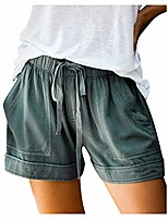 cheap -2020 summer shorts for women american flag/tie dye print comfy drawstring casual elastic waist pocketed pants - limsea