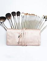 cheap -22 Pcs Super Soft Animal Hair Makeup Sets Wooden Handle Portable Makeup Artist Special Beauty Tool Set Premium Synthetic Foundation Brush