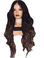 cheap -Synthetic Wig Curly Body Wave Middle Part Wig Long Natural Black Synthetic Hair 28 inch Women's Fashionable Design Ombre Hair Middle Part Black