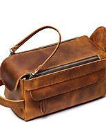 cheap -1pc Travel Organizer Cosmetic Bag Travel Toiletry Bag Large Capacity Multi layer Travel Storage Durable Classic Genuine Leather For Portable Foldable Luggage