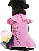 cheap -Dog Cat Dress Lace Stylish Sweet Style Dog Clothes Pink Costume Cotton XS S M L XL XXL
