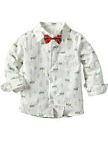cheap -Toddler Boys' Basic Animal Christmas Long Sleeve Shirt White