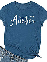 cheap -auntie shirts women cute aunt gifts tee shirts casual funny graphic tee tops for auntie gift & #40;blue, l& #41;