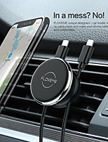 cheap -Car Mount Stand Holder Air Outlet Clip Line Bracket 360Rotation Magnetic Type With Line Storage For 6 Inch Smart Phone Bracket