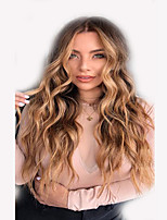 cheap -Synthetic Wig Curly Deep Wave Middle Part Wig Long Light Brown Synthetic Hair 28 inch Women's Fashionable Design Comfortable Middle Part Light Brown