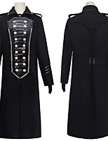 cheap -Plague Doctor Retro Vintage Steampunk Coat Masquerade Tuxedo Women's Costume Black Vintage Cosplay Halloween Masquerade Long Sleeve