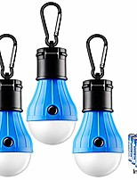 cheap -tent light 3 packs tent lamp camping lights portable led lanterns compact tent lights for camping hiking backpacking fishing hanging hurricane emergency light bulb with 9 aaa batteries