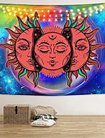 cheap -sun and moon tapestry red burning sun tapestry celestial mystic tapestry colorful psychedelic tapestry wall hanging for room & #40;51.2 x 59.1 inches& #41;