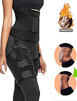 cheap -3 in1 high waist and thigh trimmer butt lifter sweat band waist trainer for women slimming support belly exercise neoprene band hip raise shapewear adjustable sport weight loss (c-black, x-large)