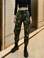 cheap -Women's Streetwear Daily Tactical Cargo Pants Camouflage Breathable Army Green S M L