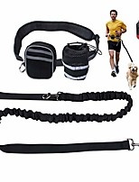 "cheap -hands free dog leash, dog walking training belt shock absorbing bungee leash up to 180lbs large dogs, phone pocket water bottle holder, fits all waist sizes from 28"" to 48""."