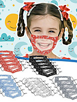 cheap -10 Pcs Lip Language Mask Children's Anti-fog Transparent Mask Printing Mask Deaf Mask Printing