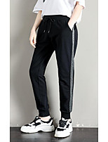 cheap -Women's Basic Daily Harem Pants Striped Breathable Black S M L
