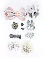 cheap -oralpart pet hair bows with flower/bowknot/crown dog cat hair accessories with different pattern pack of 10 (grey)